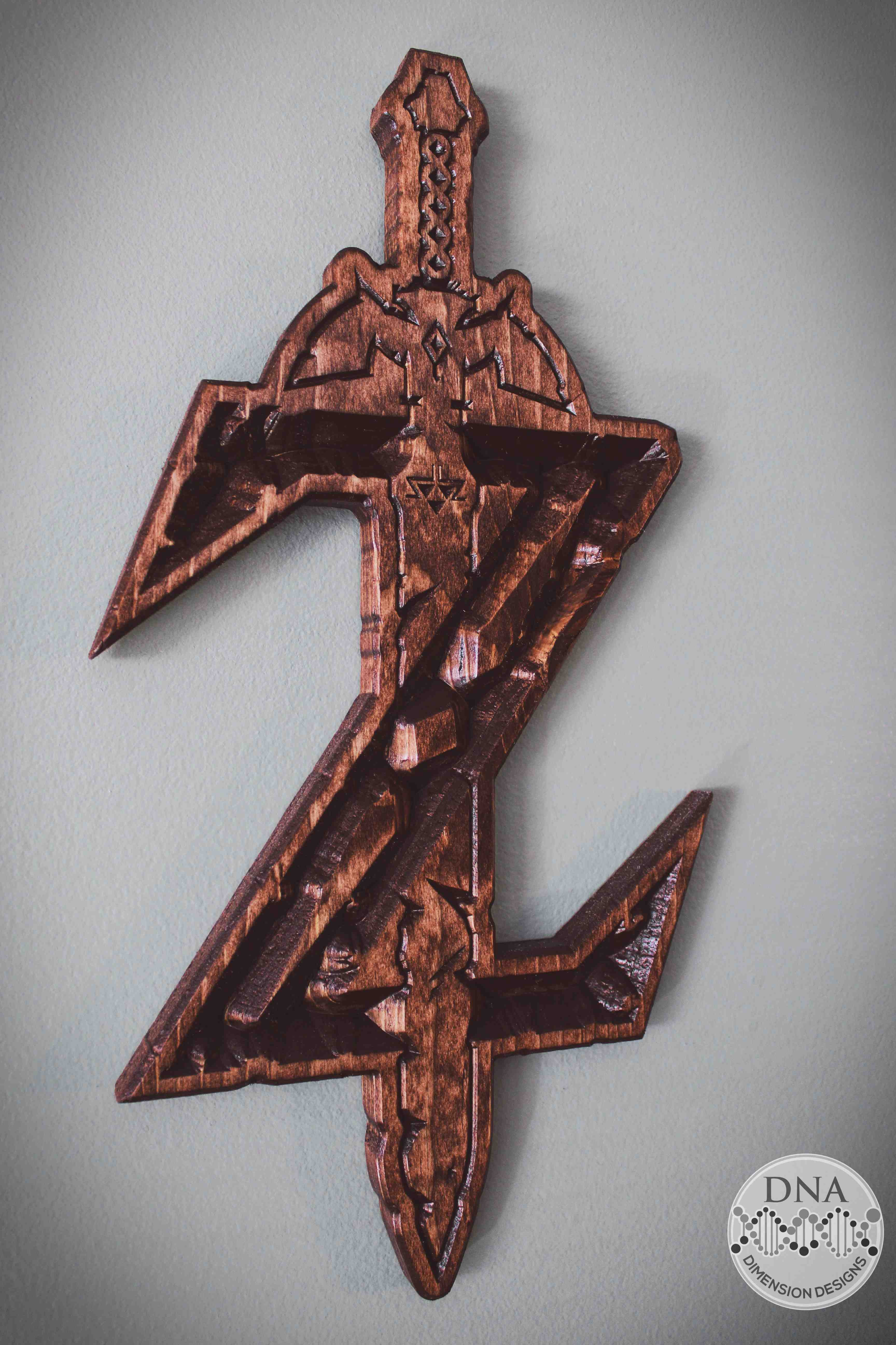 Zelda Wood Carved Sword Wall Art
